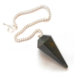 Bloodstone Faceted Pendulum