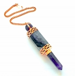 Amethyst and Copper Wand Pendulum