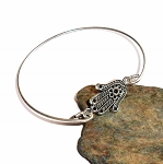 Tibetan Silver Reiki Hands Bangle Bracelet