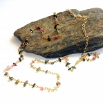 Watermelon Tourmaline Necklace 4 Vermeil