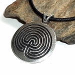 Pewter Protection Unisex Necklace