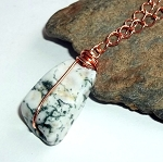 Tree Agate Copper Necklace