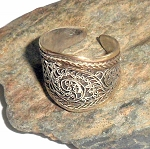 Tibetan Silver Filigree Wide Ring