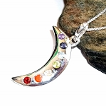 Seven Chakras Moon Necklace