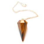 Golden Tigers Eye Faceted Pendulum
