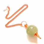 CROOKED CLEARANCE Green Aventurine Copper Sephoroton Pendulum