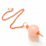 Rose Quartz Copper Sephoroton Pendulum