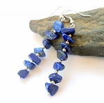 Lapis Chip Earrings