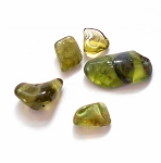 Polished Peridot Gemstones 5 Stone Lot