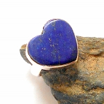 Lapis Sterling Silver Ring Size 4