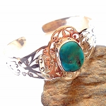 Arizona Turquoise Sterling Silver Cuff Bracelet