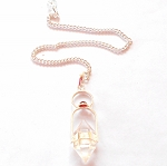 Herkimer Diamond Gemstone Pendulum