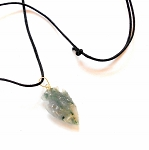 Moss Agate Arrowhead Necklace