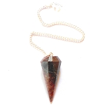 Red Tigers Eye Faceted Pendulum