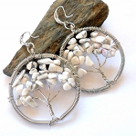 Howlite Tree of Life Earrings
