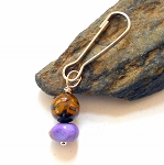 Tigers Eye and Jasper Pet Charm