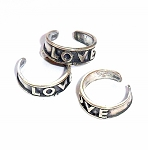 Sterling Silver Love Adjustable Ring/Toe Ring