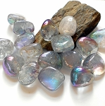 Rainbow Aura Quartz Polished Gemstone