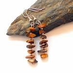 Tigers Eye Chip Earrings