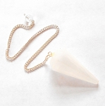 Selenite Faceted Pendulum