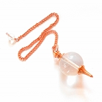CLEARANCE REJECTS Clear Quartz Copper Sephoroton Pendulum