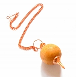 CROOKED CLEARANCE Sandalwood Copper Sephoroton Pendulum