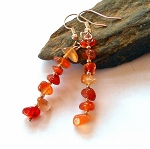 Carnelian Chip Earrings