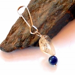 Citrine and Lapis Pet Charm