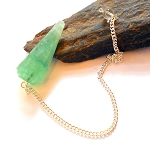 Green Fluorite Faceted Pendulum