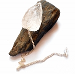 Raw Clear Quartz Crystal Pendulum