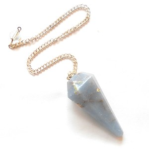 Angelite Faceted Pendulum