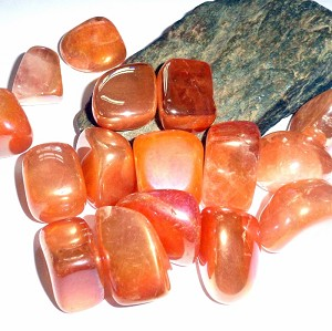 Tangerine Aura Quartz Polished Gemstone