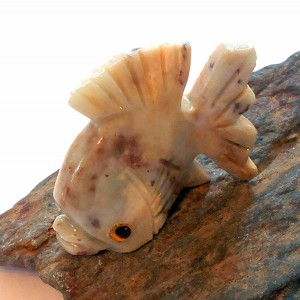 Dolomite Fish Spirit Animal Carving
