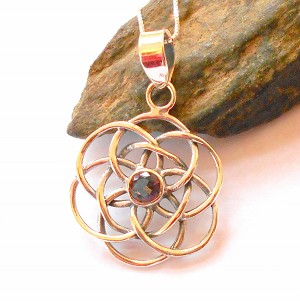 Rainbow Topaz Seed of Life Necklace