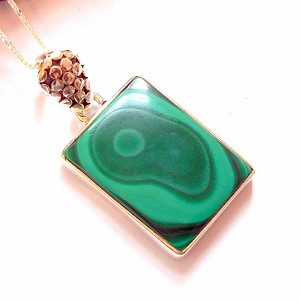 Malachite Sterling Silver Necklace