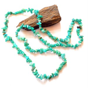 Russian Amazonite Long Chip Necklace