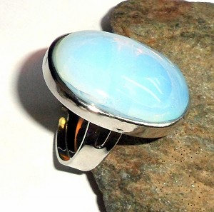 Opalite Oval Ring